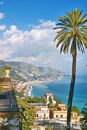 View from Taormina - Sicily
