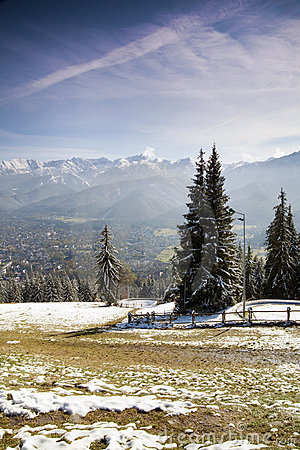 View of Tatra Mountains and Zakopane