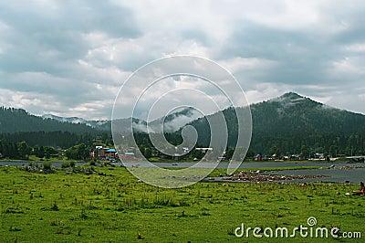View of the Teletskoye lake. Altai Mountains