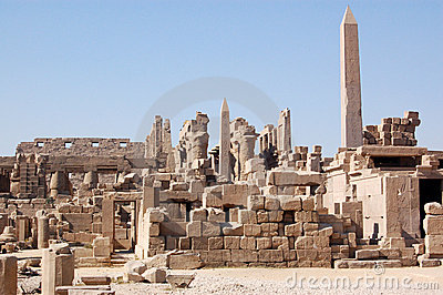 View of the Temple of Karnak