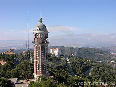 View From The Temple Of Tibidabo In Barcelona