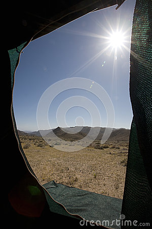 View from a tent.