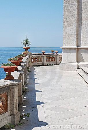 View From The Terrace Of Luxury Villa Royalty Free Stock Images - Image: 13700389