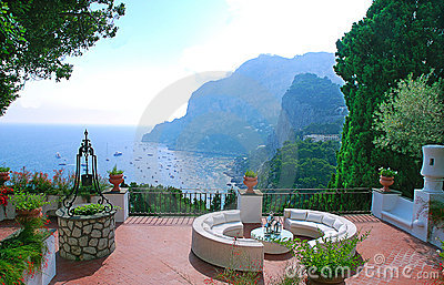 View from the terrace of villa