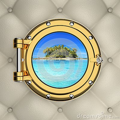Free View Through The Luxurious Boat Window Royalty Free Stock Photo - 75694735