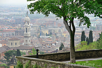 View to the Bergamo