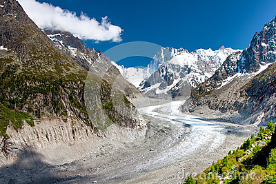 View to French Alps, Mer de Glace