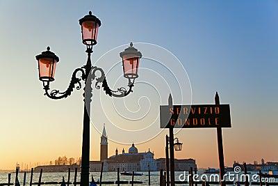 View to the isle San Giorgio Maggiore