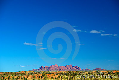 View to Kata Tjuta Editorial Image
