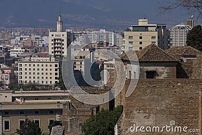 View to Malaga town