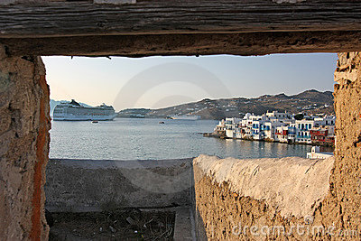 View to Mykonos Town