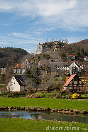 Free View To Old Castle Ruine Streitburg Stock Photo - 14048040