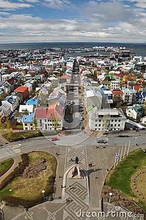 View to Reykjavik downtown, Iceland