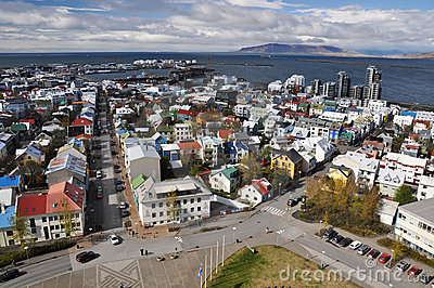 View to Reykjavik downtown, Iceland