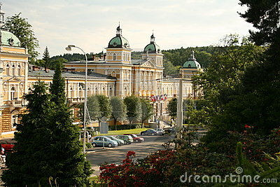 View To Sanatorium. Marienbad