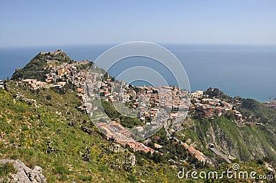 View to taormina, sicily