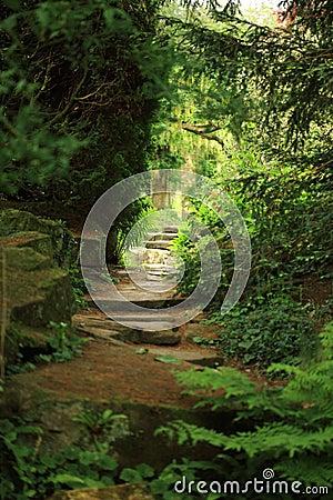 Free View To The Secret Garden Stock Image - 14079141