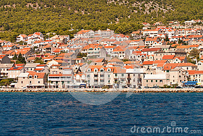View to the town of Bol. The island of Brac. Croatia.
