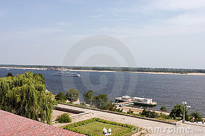 View to the Volga river Volgograd Russia