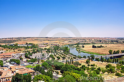 View on Toledo town. Spain