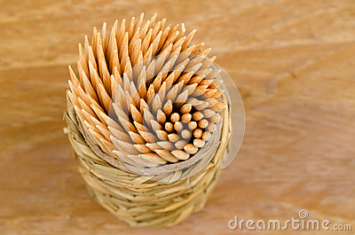 View of toothpicks