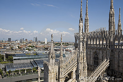 View from the top of Duomo di Milano