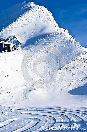View of the top of Kaprun glacier