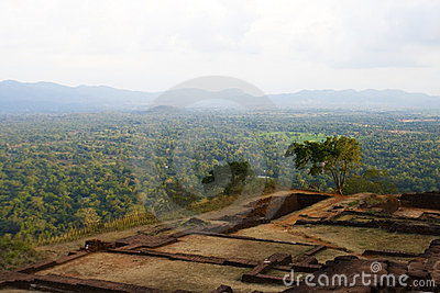View from top of Sigiriya Rock, Sri Lanka