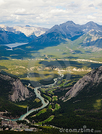 View from the top of Sulphur Mountain, Banff