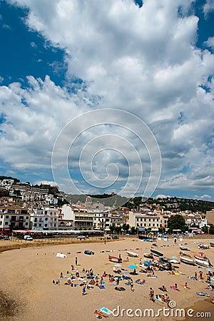 View of Tossa de Mar Catalunya Spain Editorial Image