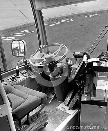 View Towards Drivers Seat of Bus