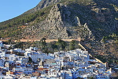 View of the town Chefchaouen