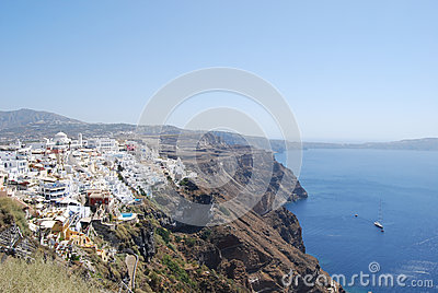 View of the town of Fira Santorini Island
