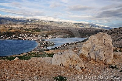 View of the town of Pag