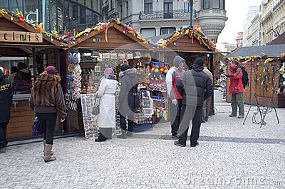 Street market in Prague Editorial Photography
