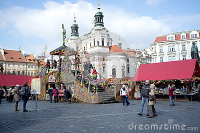 Street market in Prague Editorial Stock Photo