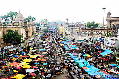 View of traffic from the top of Charminar Editorial Image