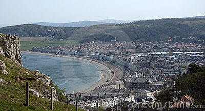 View from the Tramway in Llandudno