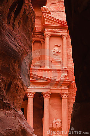 View of Treasury from the Siq, Petra