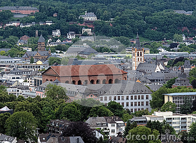 View on Trier with Basilica of Constantine