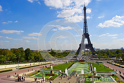 View of the Trocadero near the Eiffel Tower