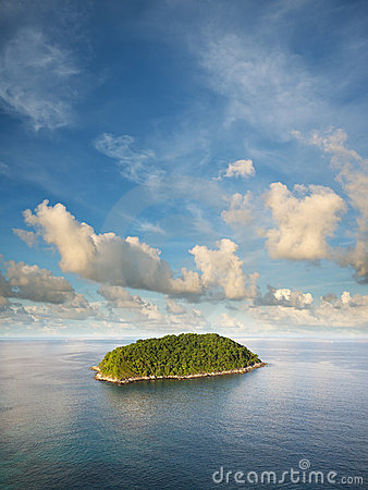 View of the tropical island