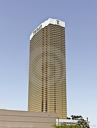A View of the Trump Tower, Las Vegas Editorial Stock Photo