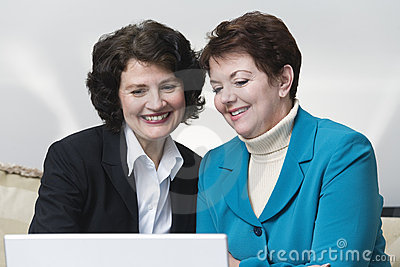 View of two business women