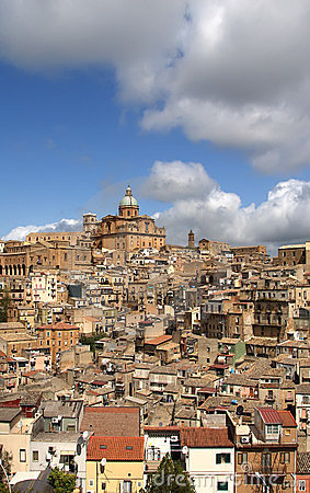 View of a typical ancient city, Sicilia