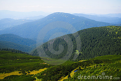 View from the Ukrainian Carpathians