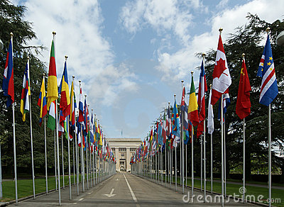 View of UN building in Geneva