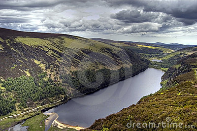 View of Upper Lake. Ireland