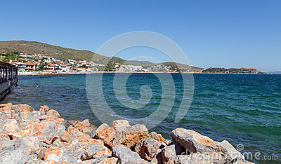 View of Urla coastline, Izmir Province, Turkey