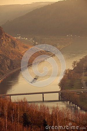 View of valley of Mosel River